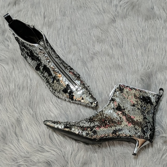 09e3a3afd6a Zara Sequined Ankle Booties
